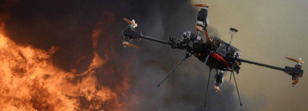 Iraanse brandbestrijding drone