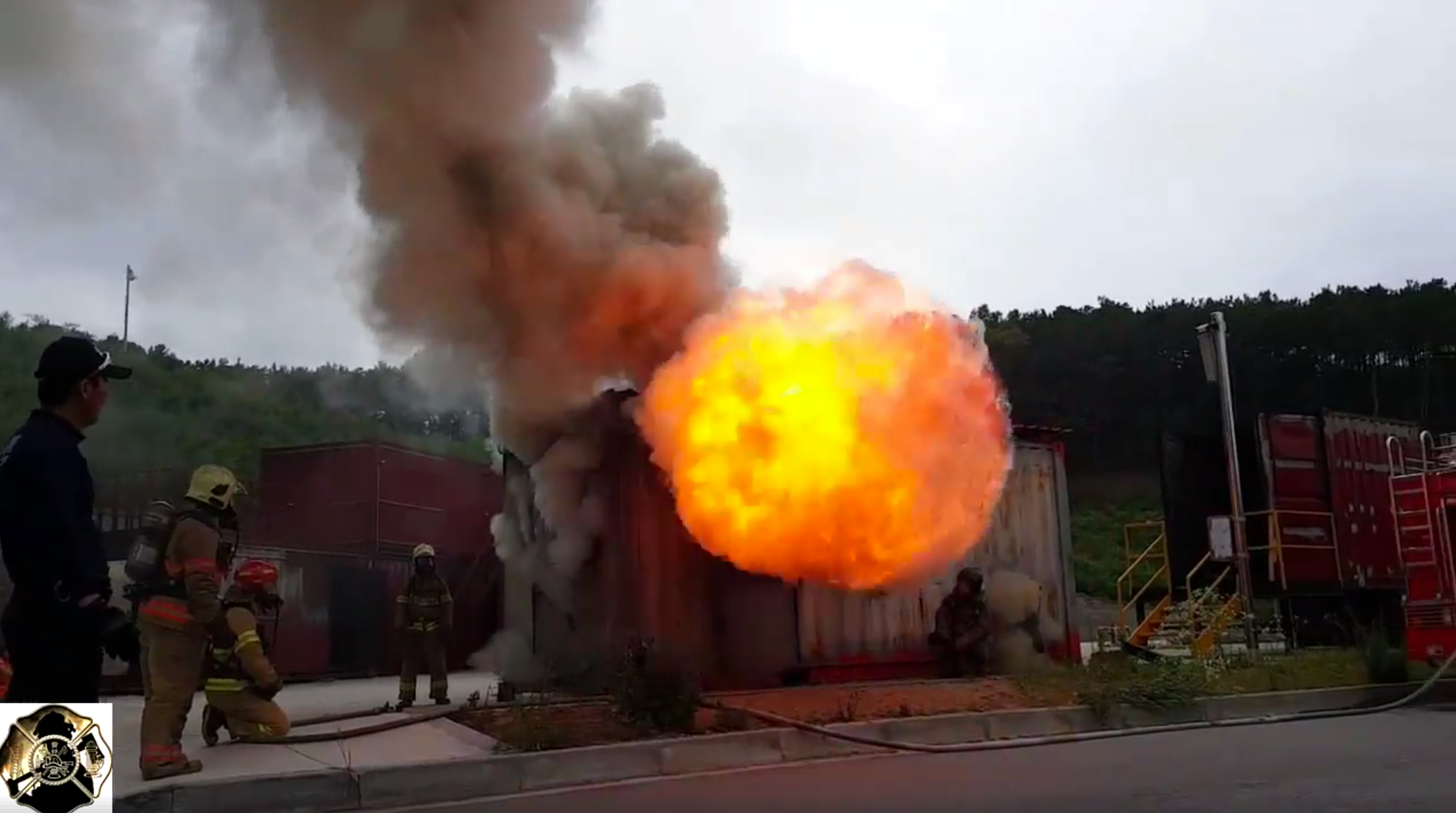 The fireball of a backdraft