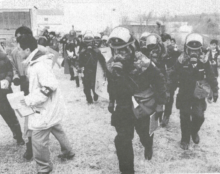 Emergency personnel respond to the Tokyo subway sarin attack. From 'Proceedings of the Seminar on Responding to the Consequences of Chemical and Biological Terrorism'