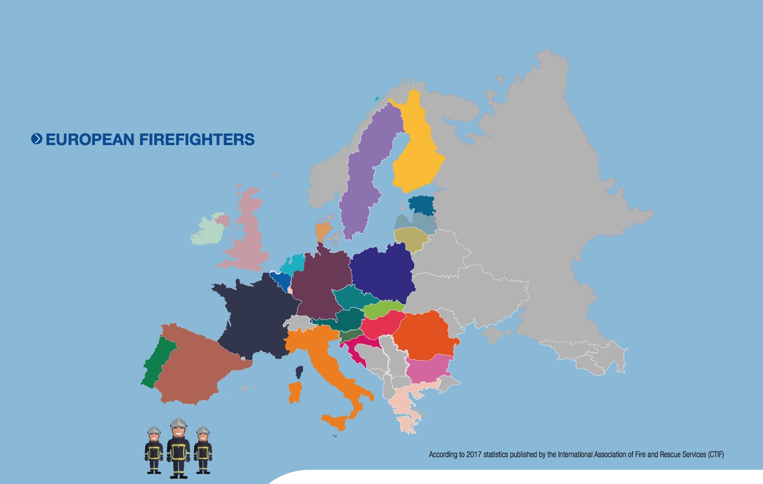 European firefighters Graph