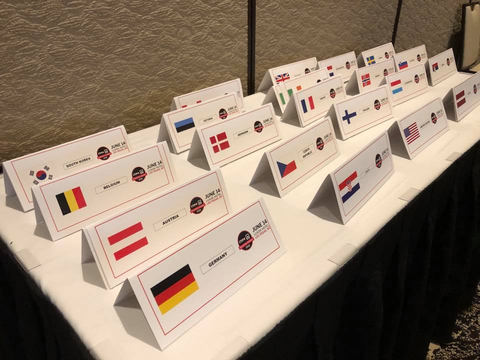 21 national flags at DA 2018