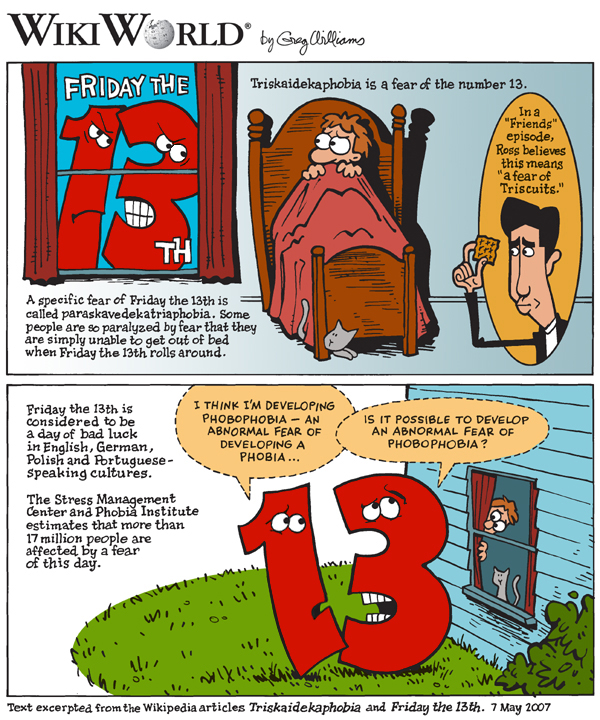 Wiki strip on Fryday the 13th Fears