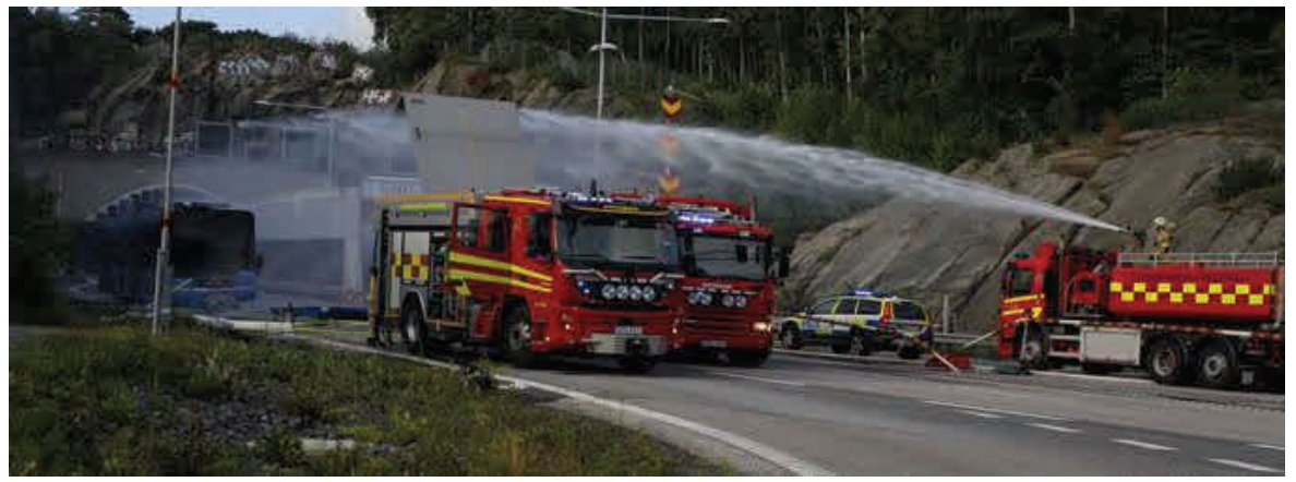 Compressed gas bus explosion in Gothenburg, Sweden