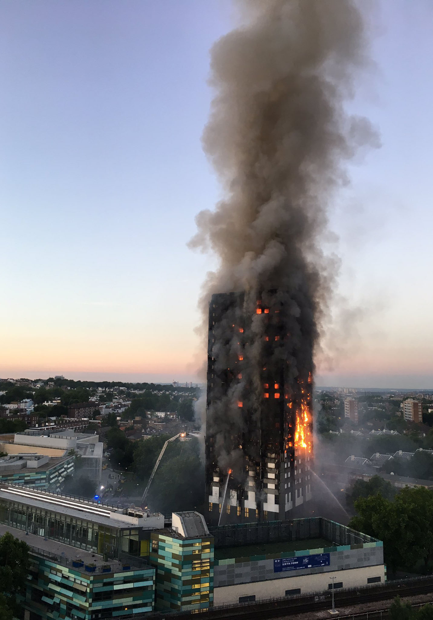 The highrise fire at Greenfel Tower in 2017 contained large amounts of toxins which exposed unprotected firefighters during the aftermaths of the fire. Photo: Wikipedia