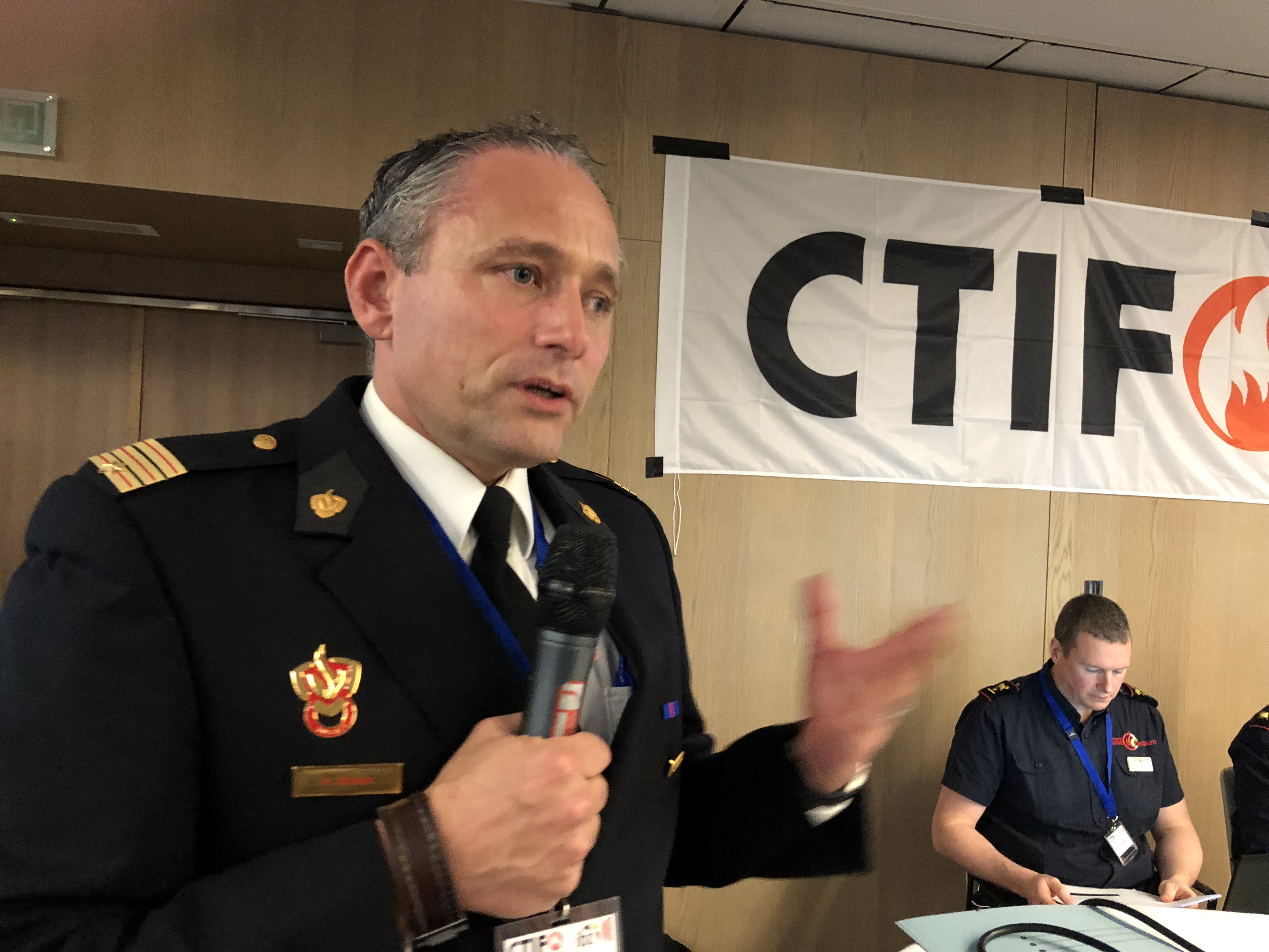 Mark Bodam speaking at the CTIF Seminar i Brussels in November 2018.