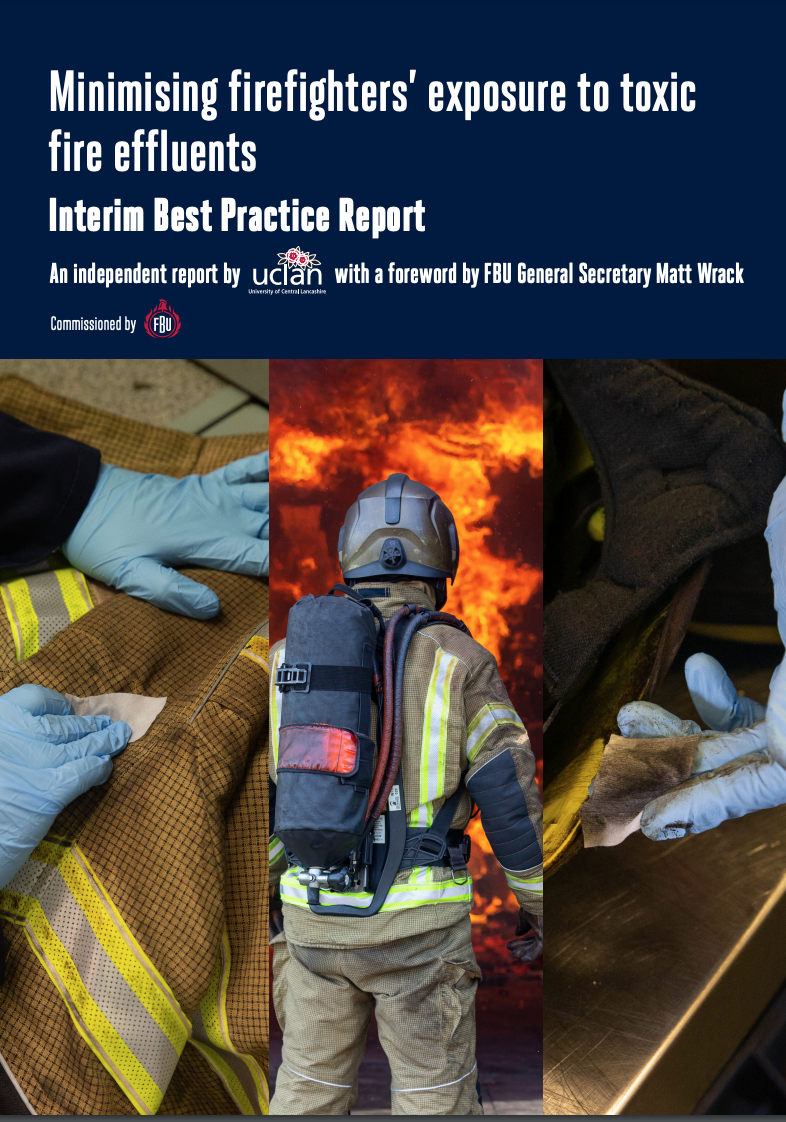 Minimizing firefighters exposure to toxins - report cover