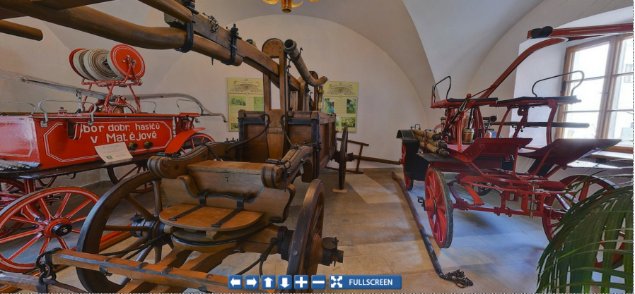 Screenshot from the Panoramic Virtual Tour of the CTIF Firefighting Museum in Pribyslav