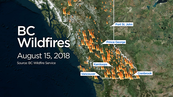 BC wildfires in August 2017
