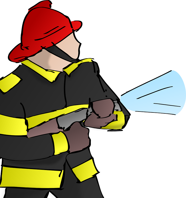 Firefighter helmet symbol art