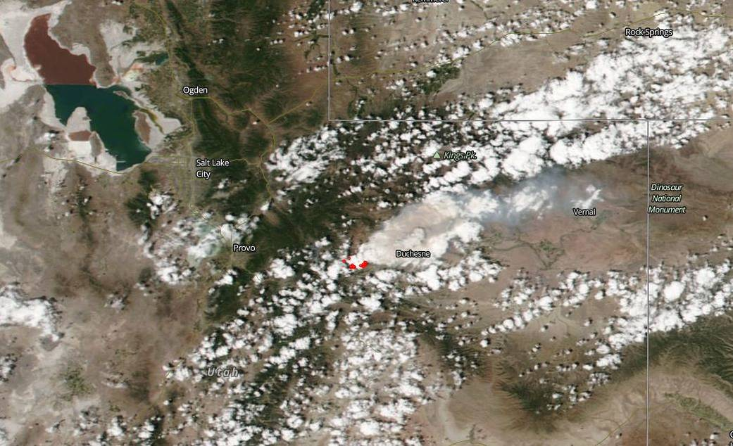 Dollar Ridge Fire, US NASA photo