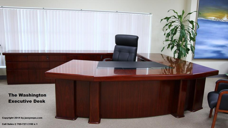 An official mahogny desk
