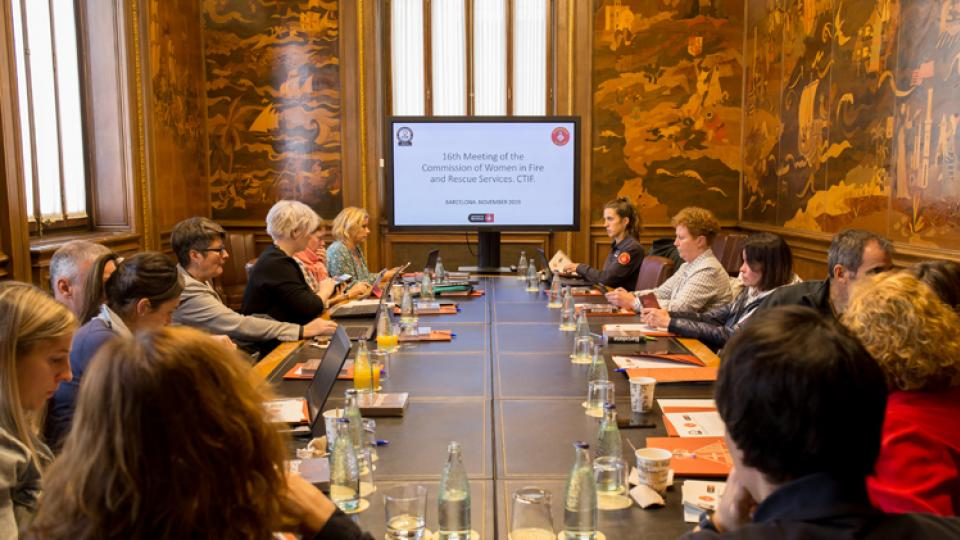 The CTIF Commission for Women in Fire & Rescue Services meeting in Madrid