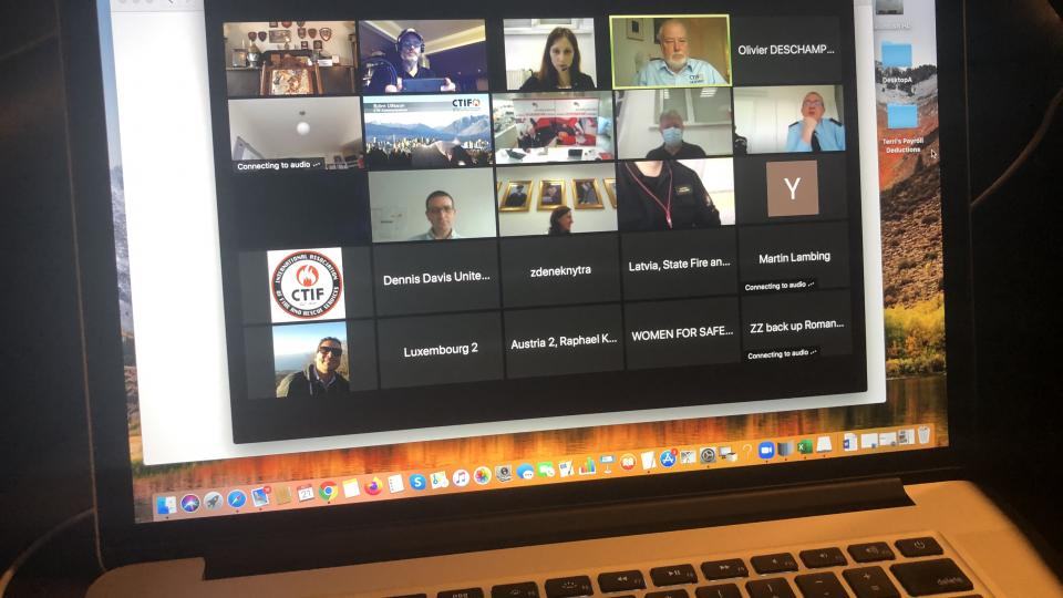 Screenshot of the Delegates Assembly 2020, held virtually on October 21st.