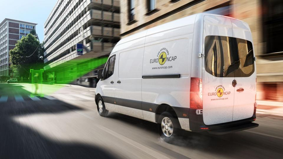 Cargo van with the Euro NCAP logo