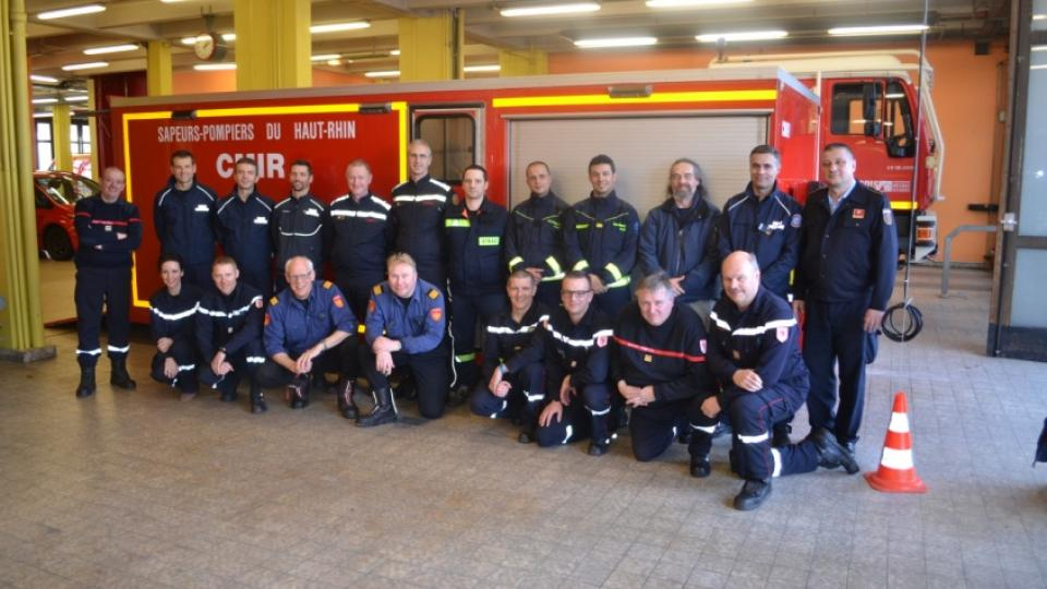 First practical training of the Hazmat commission of CTIF