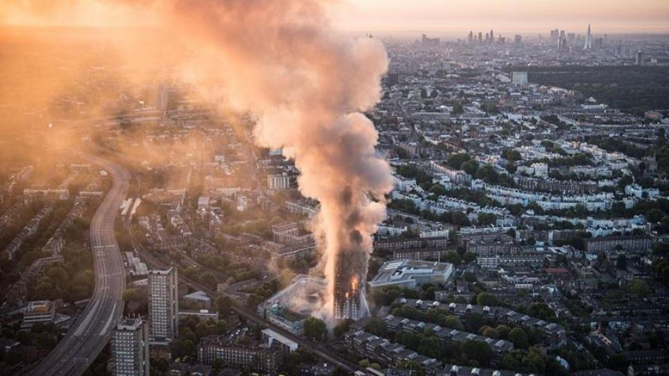 Grenfell Tower by air