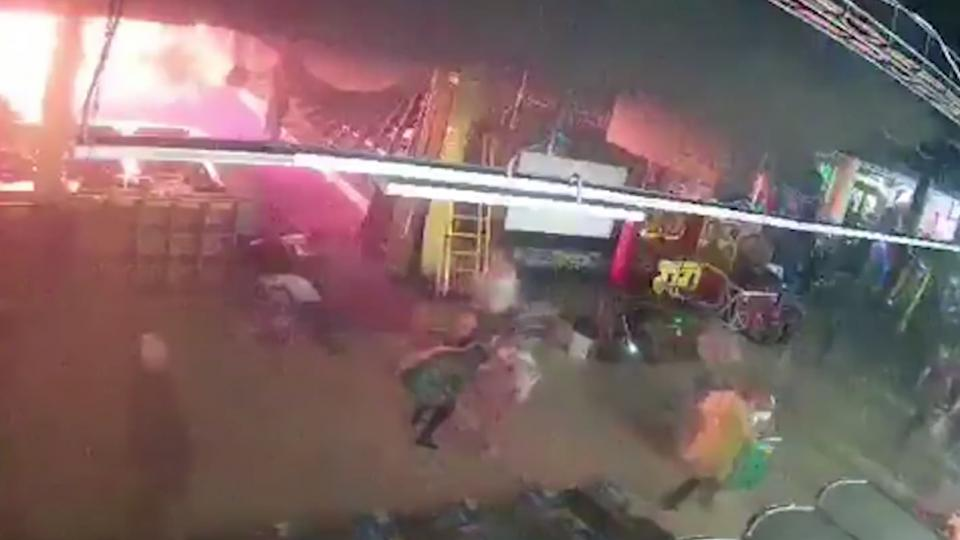 Inside the Mall fire