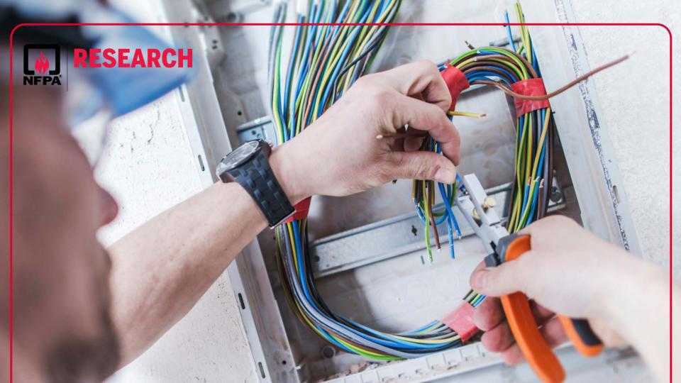 NFPA cover image for fatal electrical accidents