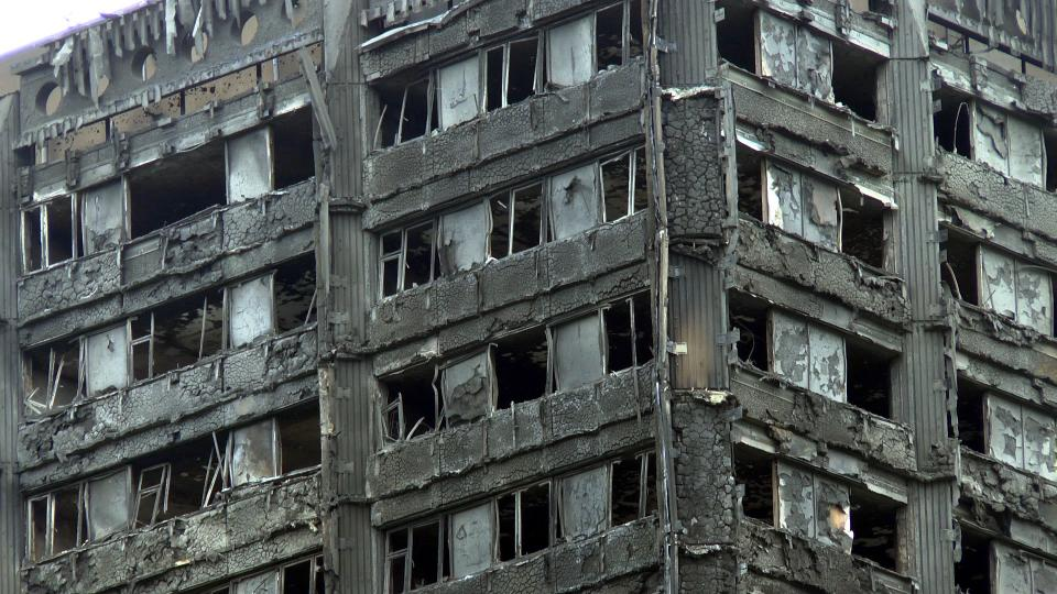 Grenfell Tower after the fire. Photo: Wikipedia