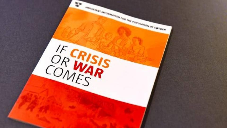 If Crisis or War comes - printed booklet