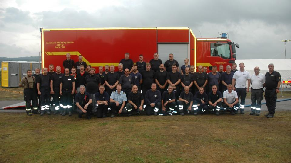 The German firefighters from Lower Saxony on location in the county of Dalarna, Sweden.