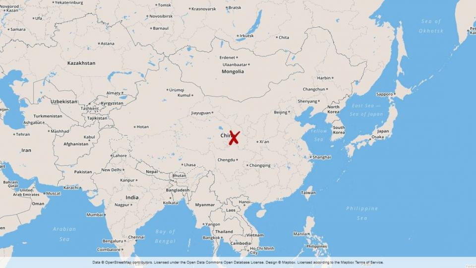 Map over China