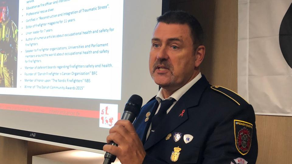 Tommy Backgaard Kjeaer spoke about Firefighter´s Health at the Brussels´CTIF Seminar in November.
