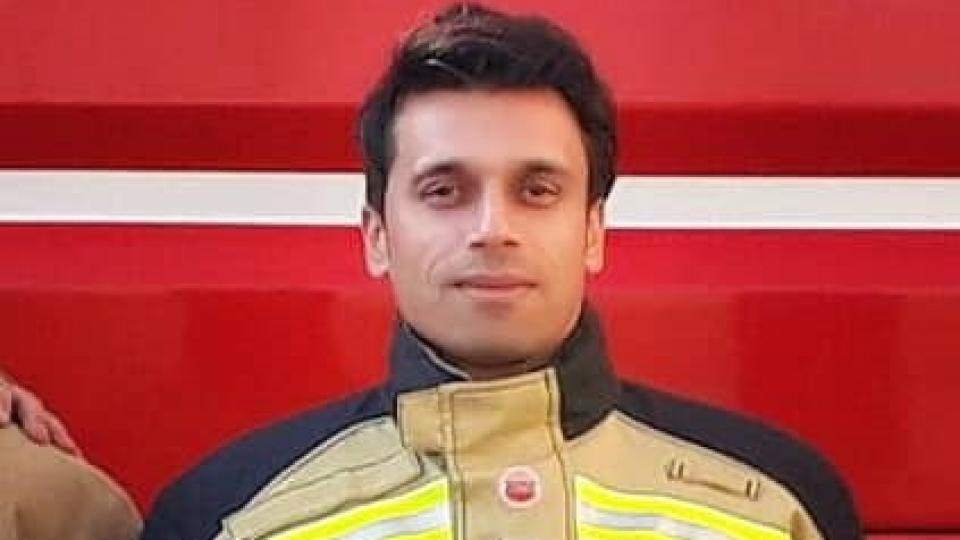 Jalal Maleki was killed by electric shock during a firefighting operation in Tehran.
