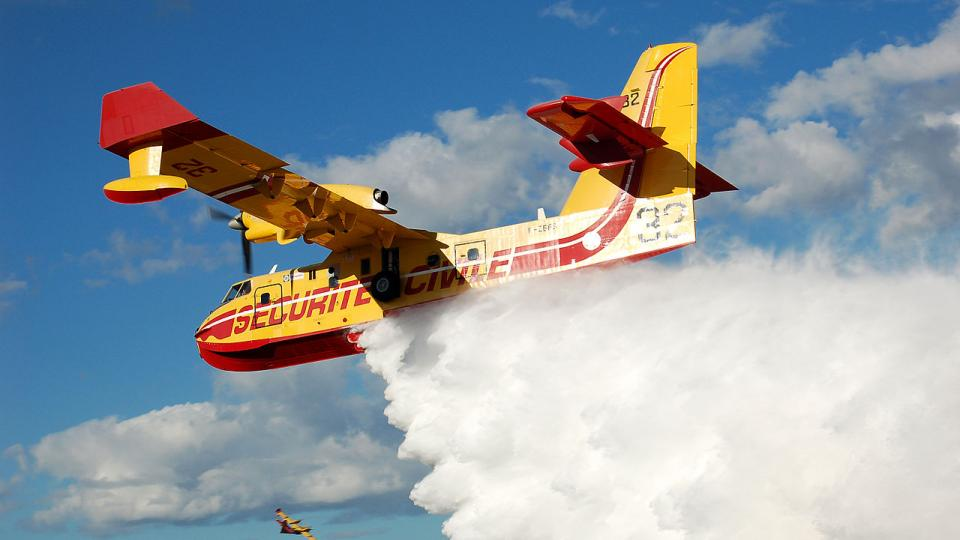 Canadair water bomber from Southern France. Photo Credit: Wikipedia Commons License.