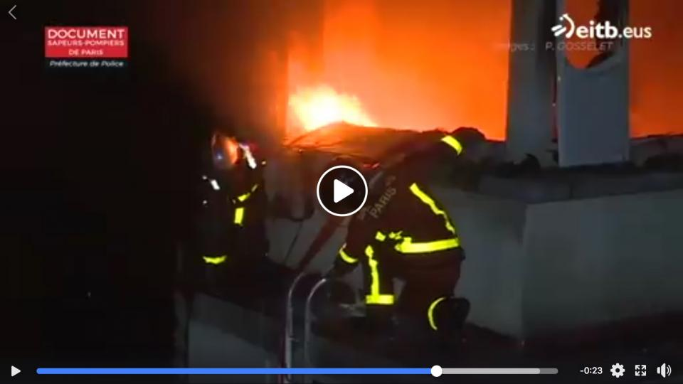 Screen shot from Paris Fire Brigade video