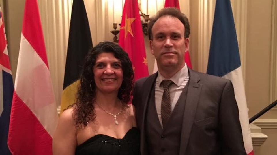 CTIF Communication Officer Bjorn Ulfsson and his wife Terri Casella at a gala dinner in Ottawa 2016.