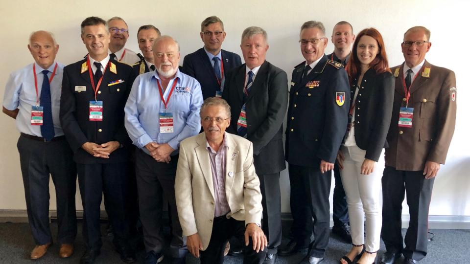 The New CTIF Executive Committee, as elected (or continuing their terms) on July 19, 2019.