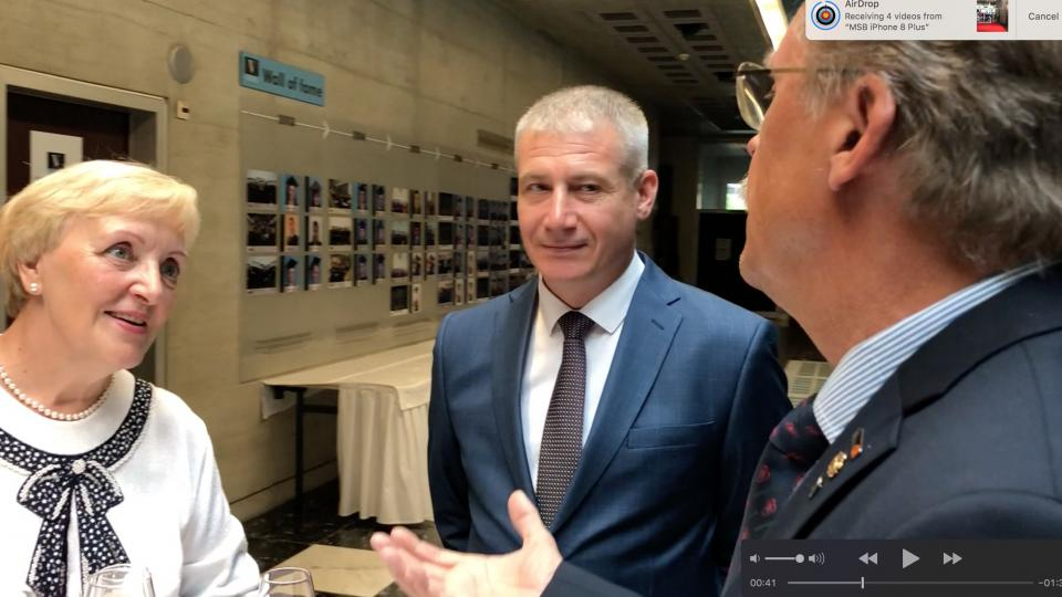 CTIF President Tore Eriksson with the Russian Delegation at DA 2019 in Martigny