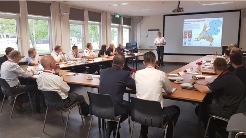 The CTIF Fire Investigation Working Group meeting in Holland, 2019. Photo by Volkert van der Ploeg