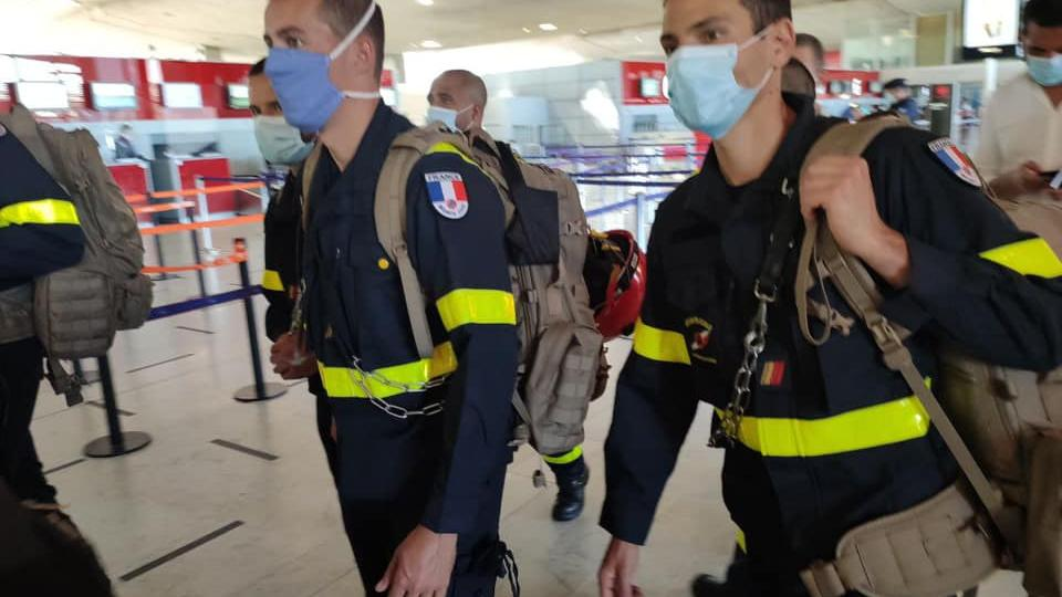 French SAr-specialists on their way to Beirut. Photo by the UIISC 1.