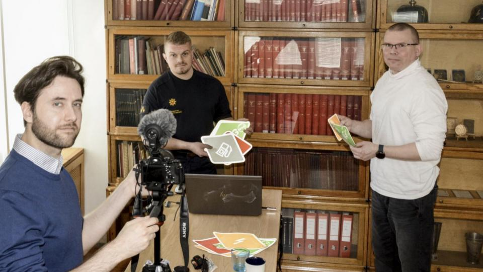 Mikko being interviewed for a social media campaign about the ISO standard being implemented in Finland. Photo by Kimmo Kaisto, Pelastustieto- magazine