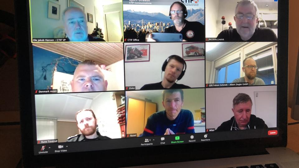 Virtual Tunnel Fire Work Group meeting in CTIF, December 17, 2020