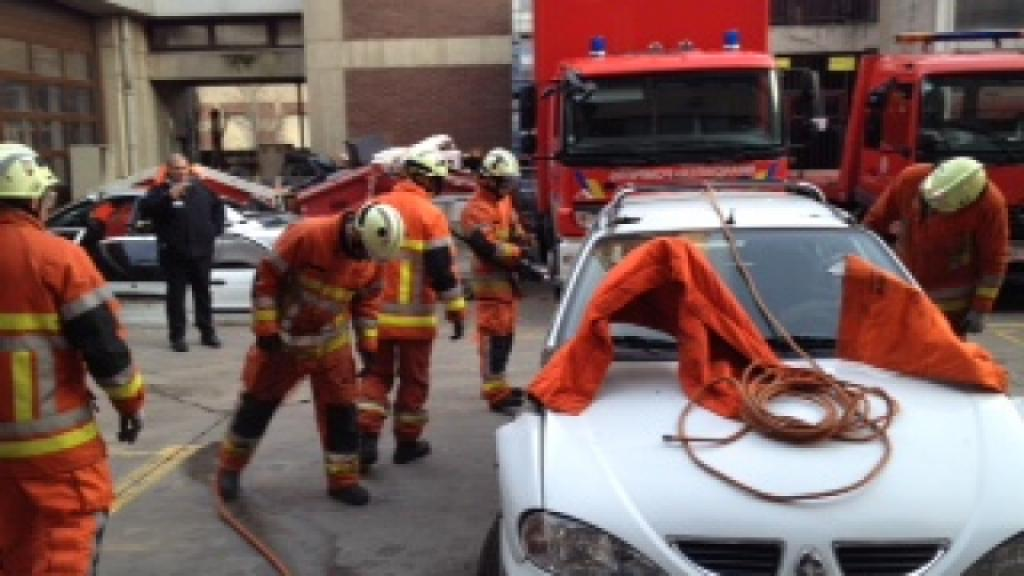 Extrication exercise in Brussels