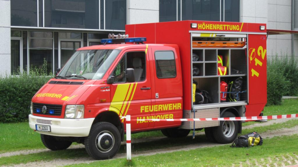 Hannover, Germany, light fire vehicle.