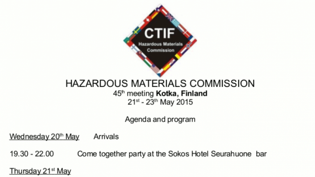 Hazardous materials commission 45th meeting