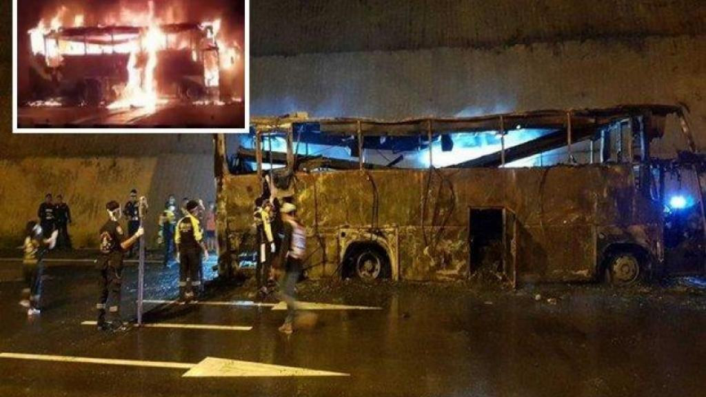 Thailand Bus Fire
