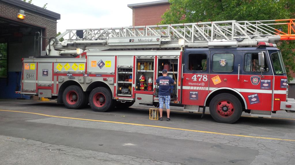 Montral fire truck