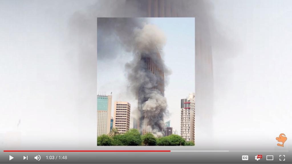 2500 workers flee from a skyscraper fire in Kuwait - 62