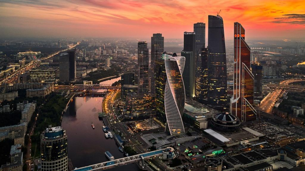 Moscow at dusk. Photo Credit: Wikipedias Commons License