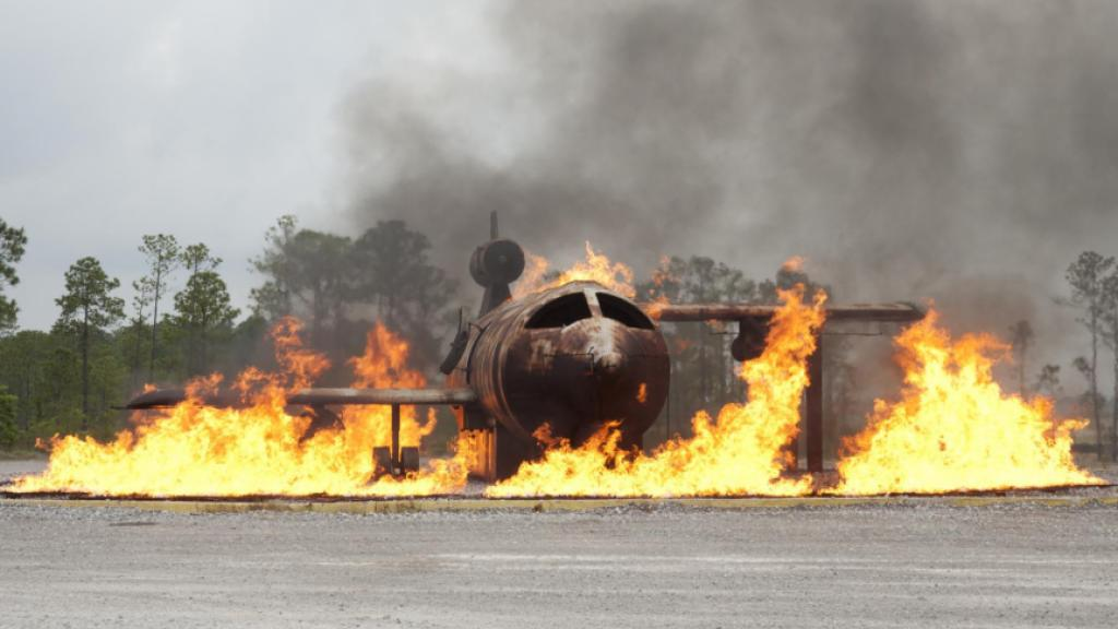 Live burn of an airplane.