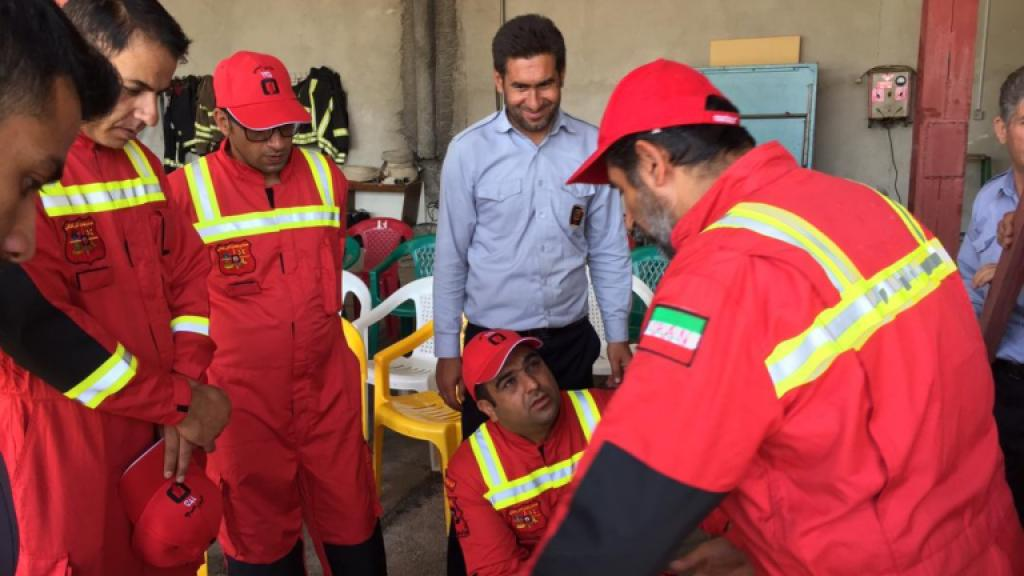 Forest fire fighters meeting in Iran