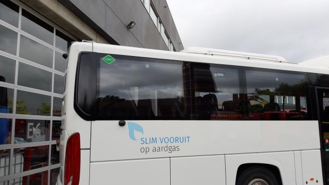 A bus with ISO propulsion stickers