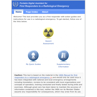 Portable Digital Assistant for First Responders to a Radiological Emergency